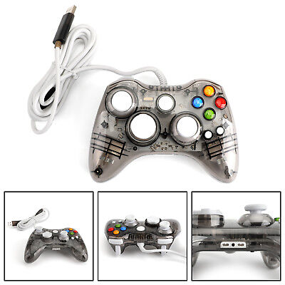 USB Wired Game Remote Controller Gamepad For Microsoft Xbox 360 PC Black