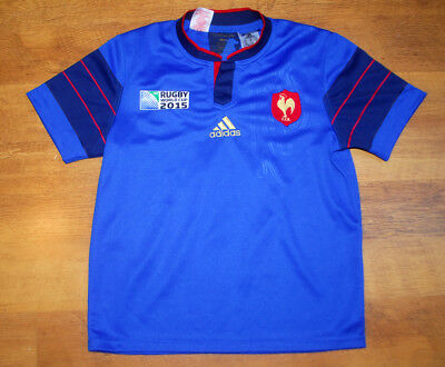19b01b61dde adidas France Rugby World Cup 2015 home shirt (For age 11 12)