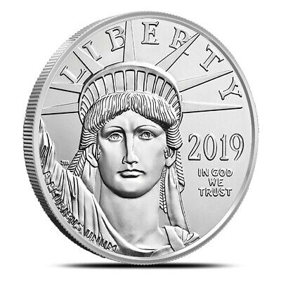 2019 1 Oz .9995 Fine $100 Platinum American Eagle - Gem Uncirculated (BU)
