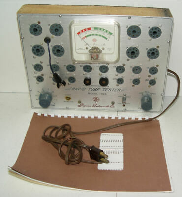 Superior Instruments Rapid Tube Tester Model  82-A w Manual Works Great!