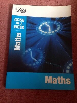 Letts Gcse In A Week - Maths by Letts Educational (Paperback, 2012)