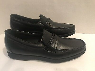 18911e7305f ET WRIGHT BLACK penny loafers Mens dress shoes 10 A -  53.95