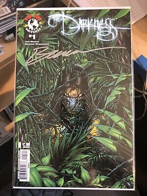 The Darkness #1 Dynamic Forces Green Variant Signed By Michael Broussard NM