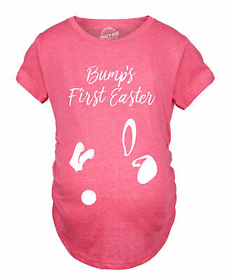 09fd9195bf693 Maternity Bumps First Easter Tshirt Adorable Pregnancy Pastel Bunny Tee  (Heather