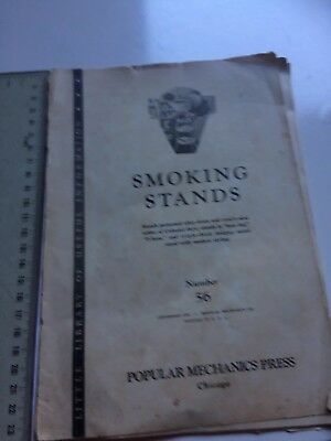 Vintage Smoking Stands 1942 Instruction  Book Patterns Directions