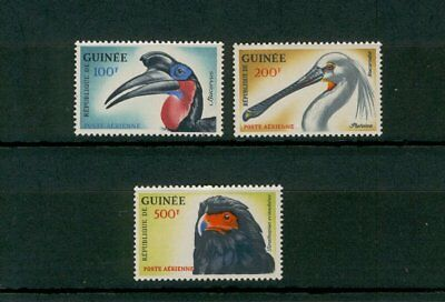 [ZZA-396]  Guinea  - 1962 – Uccelli   P.A.  -  3 val.   **  MNH
