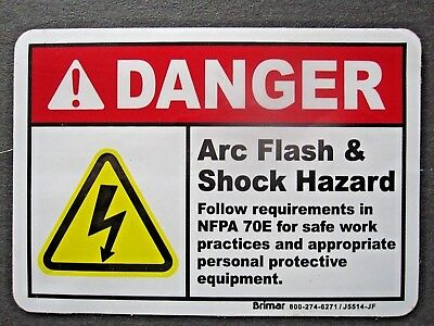 Arc Flash Label, 3.5 In. H, 4 In. W, peal back adhesive