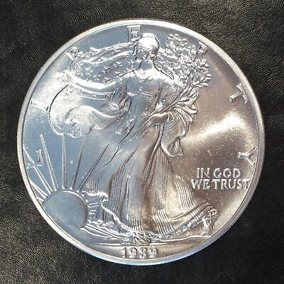 1989 Uncirculated American Silver Eagle US Mint Issue 1oz Pure Silver #G052