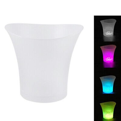2X(LED Ice Bucket Champagne Wine Beer Cooler Xmas Party 5L G5J7)