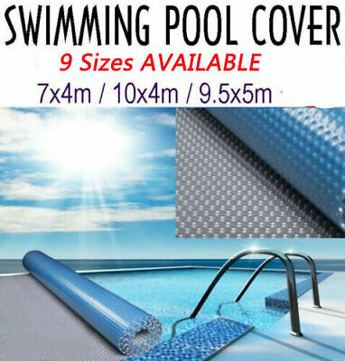 8 Size 500 Micron Solar Swimming Pool Cover Blanket Protector Heating Heated New