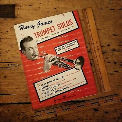 Vintage 1945 HARRY JAMES TRUMPET SOLOS Big Band SONG BOOK 1940s SHEET MUSIC BVC