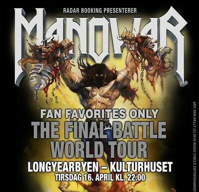 Manowar Tour 2019 • 2 Tickets 16.04.2019 Longyearbyen (Svalbard, Norway)