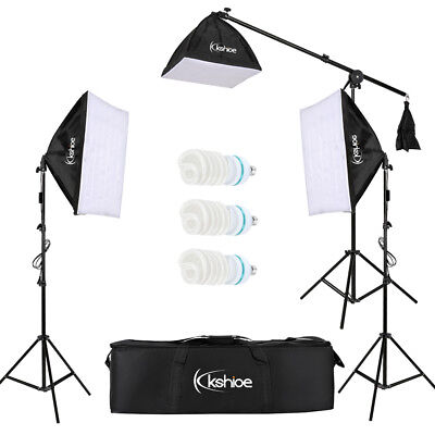 Photo Video Studio Foldable LED Photography Kit 3 Light Stand 3 SoftBox 3 Lamp
