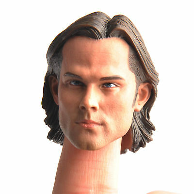Sam Winchester Head Carving 1/6  Action Figure Head For 12'' Male Body Figure