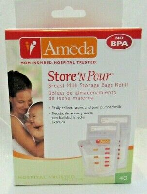 Ameda Store 'N Pour Breast Milk Storage Bags Refill - 40 CT