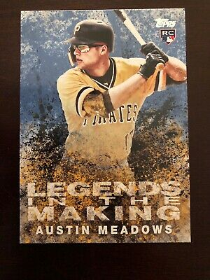 2018 Topps Update Legends In The Making Blue Austin Meadows RC #LITM-4 Pirates
