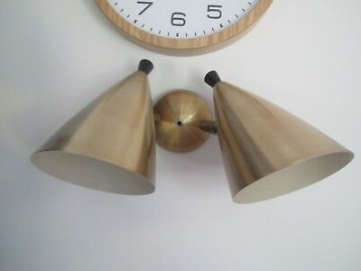 Anodised Vintage 1950s Mid century Beco wall light, Brown Evans & Co