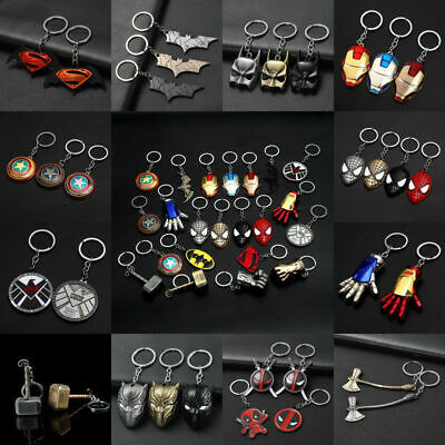 Marvel DC The Avengers Loki Metal Keychain Car KeyChains Keyrings Collection