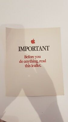 Vintage Apple Printed Manuals and booklets