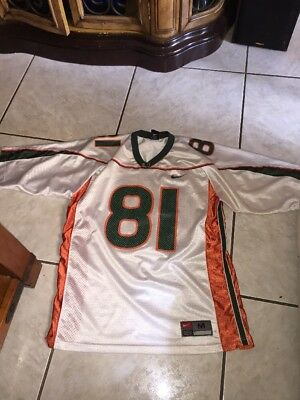 NIKE DEVIN HESTER UNIVERSITY OF MIAMI HURRICANES JERSEY White SZ XL ... d1fade106