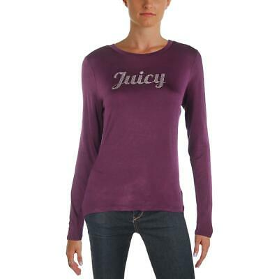 668f6606ed Juicy Couture Womens Purple Rhinestone Logo Pullover Top Shirt L BHFO 3155