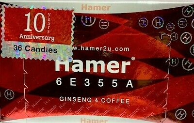 Hamer Ginseng & Coffee Energy Sex Vitality Stamina Candy Enhancer Harder Men