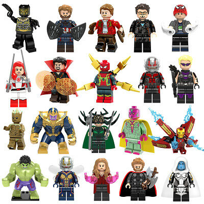 MARVEL Mini Figuren Infinity War Super Heroes Deadpool Thanos Avengers Hot
