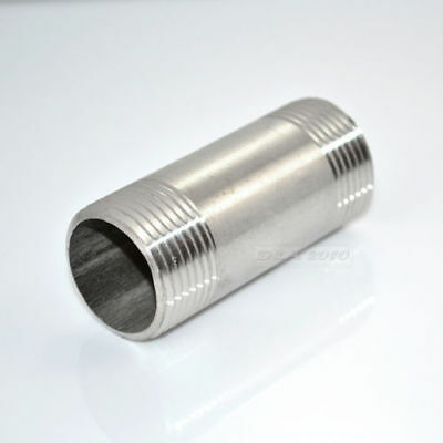 """1/2"""" Male x 1/2""""Male Plug Threaded Pipe Fitting 75MM Stainless Steel SS304 NPT"""