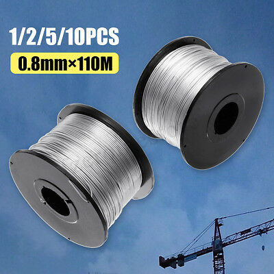 1/2/5x 0.8mm Tie Wire Steel Coils Anti-rust For Automatic Rebar Tying Machine