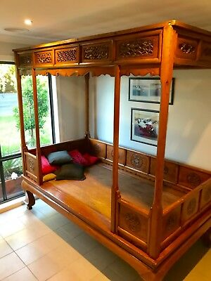 Antique Chinese Wedding Bed - Qing Dynasty