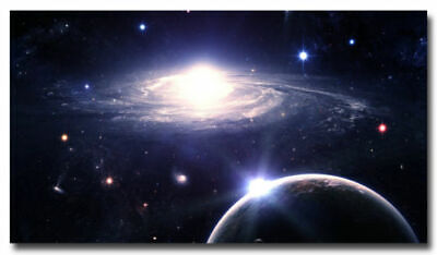 G-438 Outer Space Nasa Universe Galaxy Star Planet Fabric Poster 18 24x36 27x40