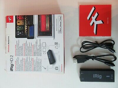 IK Multimedia iRig HD 2 Guitar Interface iOS Mac and PC Box Cable Complete