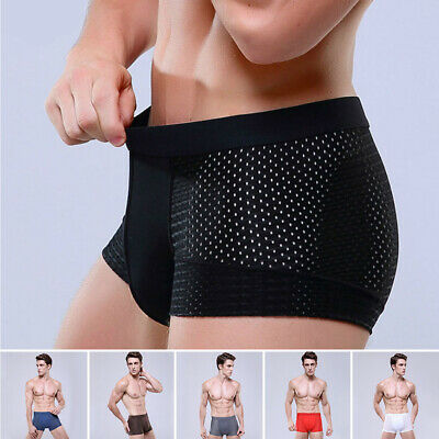 Sexy Men's See-through Boxer Briefs Sheer Mesh Pouch Underwear Panties Lingerie