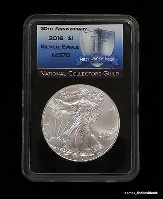 2016 American Silver Eagle 30th Anniversary First Day of Issue 1oz Silver Coin