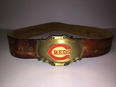 Vintage Cincinnati Reds Raintree Belt Buckle 1978 With Belt