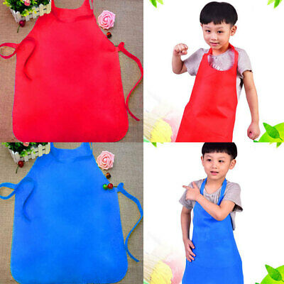 Cute Children Kids Plain Apron Kitchen Cooking Baking Dining Frog Bib Craft New