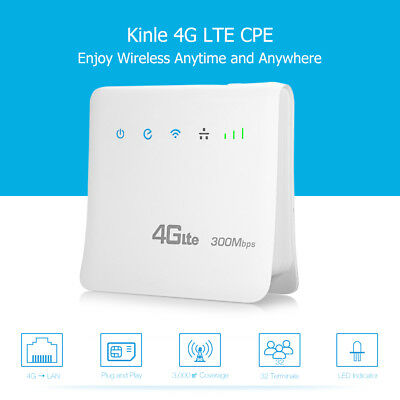 Kinle 4G LTE CPE Mobile WiFi Router 300Mbps Wireless With Lan Port SIM Slot
