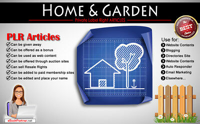 1000+ PLR Articles on Home and Garden Niche Private Label Rights
