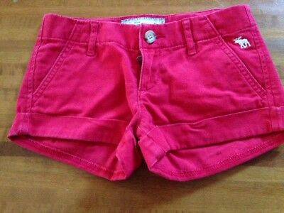 abercrombie  : short bambina rossi tg 10y