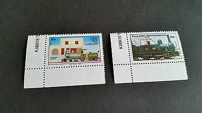 Turkish Cyprus 1986 Sg 202-203 Railways Mnh