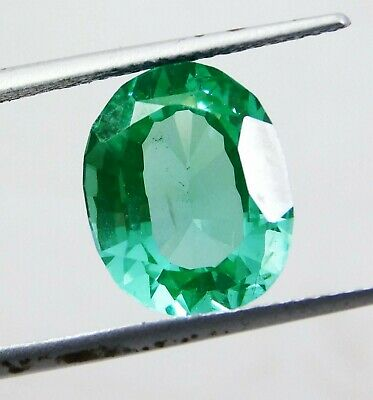 5.00cts. Muzo Certified Colombian Green Emerald 100% Natural Oval Cut 3762