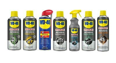 WD40 Specialist Motorcycle Cleaning Kit - Chain Wax-Polish-Wash-Silicone-Brake