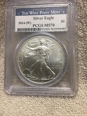 2014-W  American Silver Eagle PCGS MS-70 WEST POINT