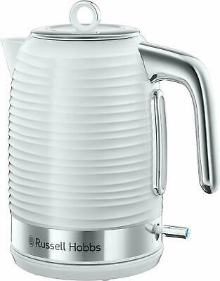 Russell Hobbs 24360 Inspire Kettle 1.7L 3000w In White And Chrome - Brand New