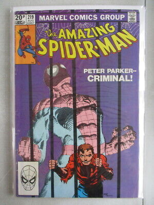 Amazing Spider-Man Vol. 1 (1963-2014) #219 FN- UK Price Variant