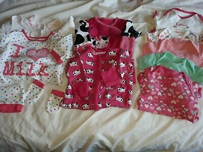 3-6 months girls bundle including mothercare sleepsuits