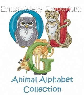 Animals Alphabet Collection - Machine Embroidery Designs On Cd Or Usb