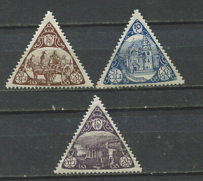 Italy 1908 Sicily Calabria Earthquake Relief triangle stamps (3) MH