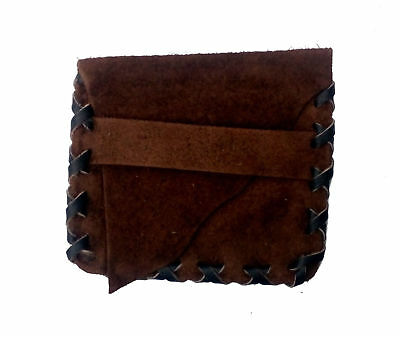 Black and Brown Leather Pouch Credit Character Card LARP