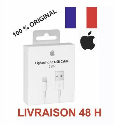 100% Original Cable USB Chargeur Lightning pour Apple Iphone 5 6 7 8 X Ipad